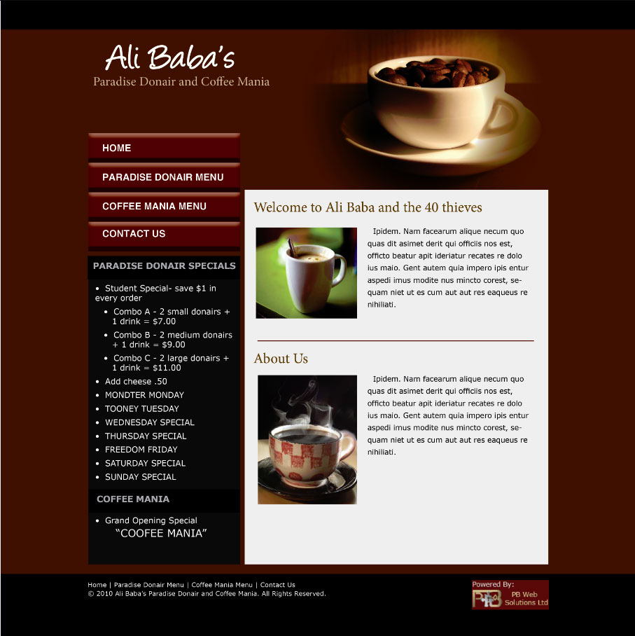 sample website designs - Khafre